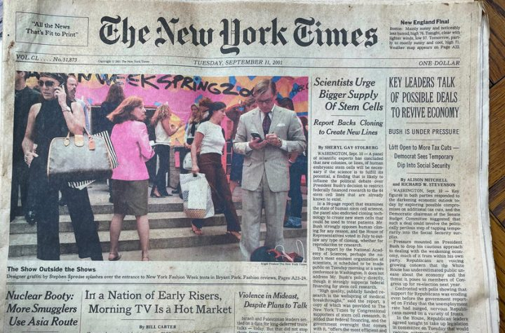 A Time Capsule in Two Front Pages